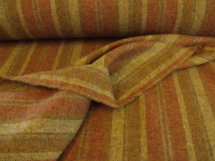 Wool Tweed Stripe Design Fabric AZ41